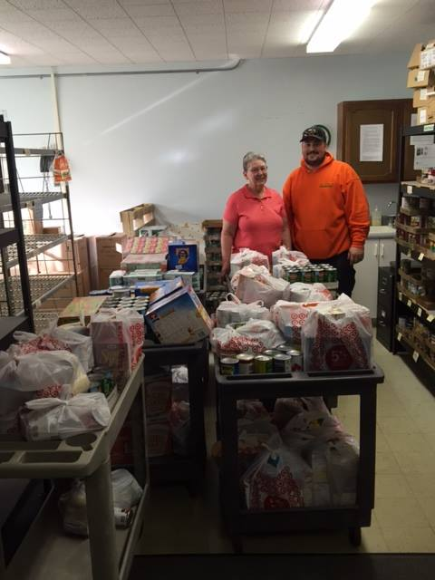 Dayton Delivers Donations to the Feeding Friends Food Pantry