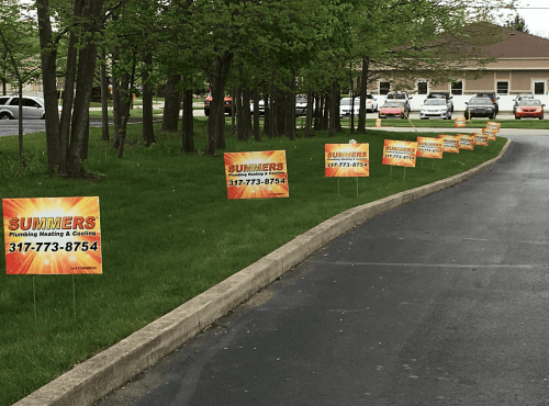 Signs in Yard