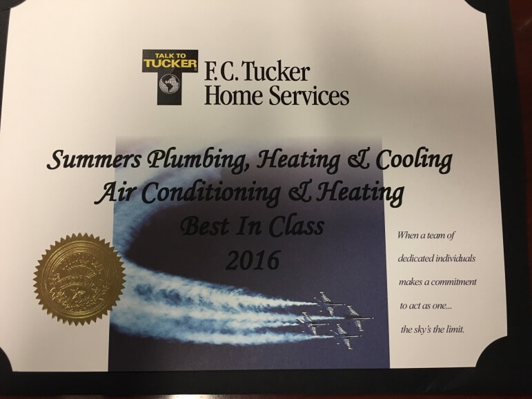 Summers plumbing heating cooling receives two awards