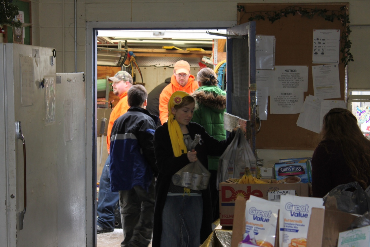 Group of volunteers for the food drive